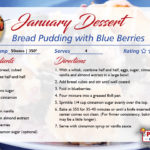 Blueberry Bread Pudding – January featured recipe