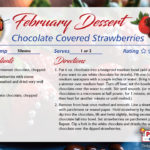 Chocolate Covered Strawberries – February's Featured Recipe