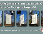 PrintWorks Designs, Prints and Installs Outdoor Banners for Foulkeways at Gwynedd.