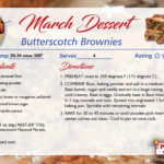 Blonde (Butterscotch) Brownies - March's Featured Recipe