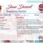 Raspberry Parfait – June's Recipe of the Month