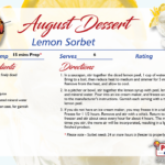 Lemon Sorbet – August's Recipe of the Month