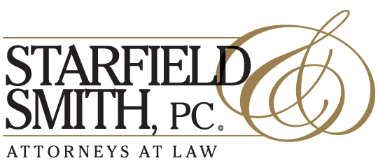 This is a picture of the Starfield & Smith, PC, Attorneys at Law logo.